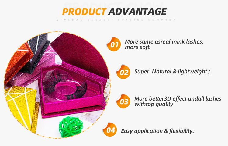 Optional Multiple Packaging Extension 3d Synthetic False Eyelashes