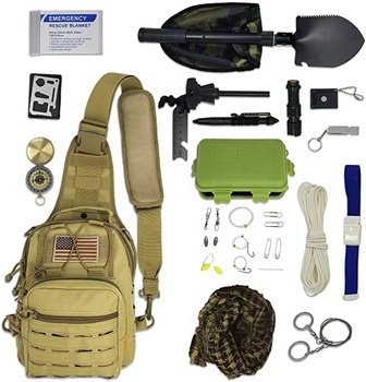Emergency backpack survival first aid bag tactical kit military for outdoor camping