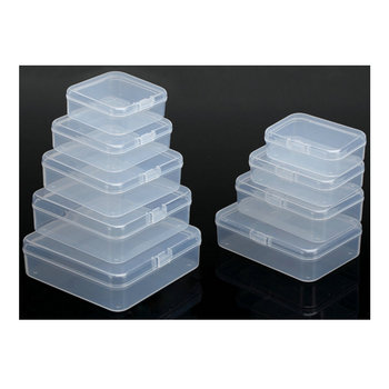 High Quality Low Price Wholesale Small Clear PP Plastic Storage Box with hinged lid