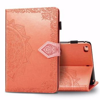 Tablet Case For iPad Mini 1 2 3 4 5 Flip Leather Cover Cute Mandala Shell Card Slot Stand Auto Sleep Wake Wallet