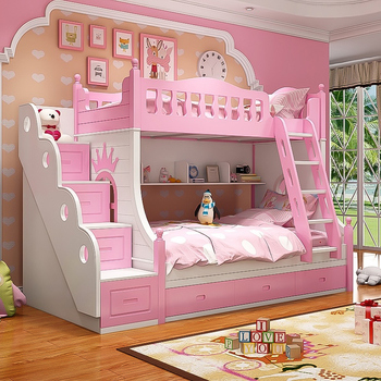 factory prices cheap children bunk bed with ladders for home furniture bedroom furniture