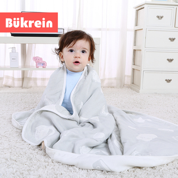 6-Layer Organic Bamboo Fiber Baby Soft Smooth Comfortable Water-Absorben Toddler Kids Bath Towel