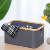 bamboo Woven rectangle storage foldable hamper basket cloth laundry storage with handle