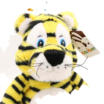 Promotional top quality yellow tiger kids plush toys stuffed plush toy animal