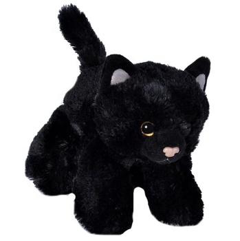 Black Cat Plush Stuffed Animal Plush Toy Gifts For Kids Plush Standing Black Cat With Red eyes Stuffed Cat Custom