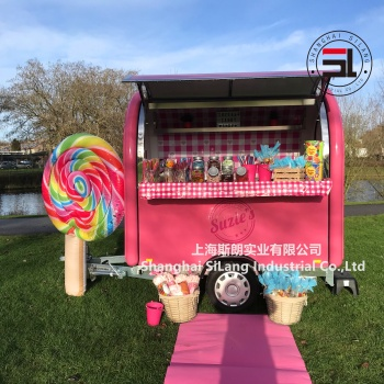 mobile food cart food trailer ice cream snacking food vending carts