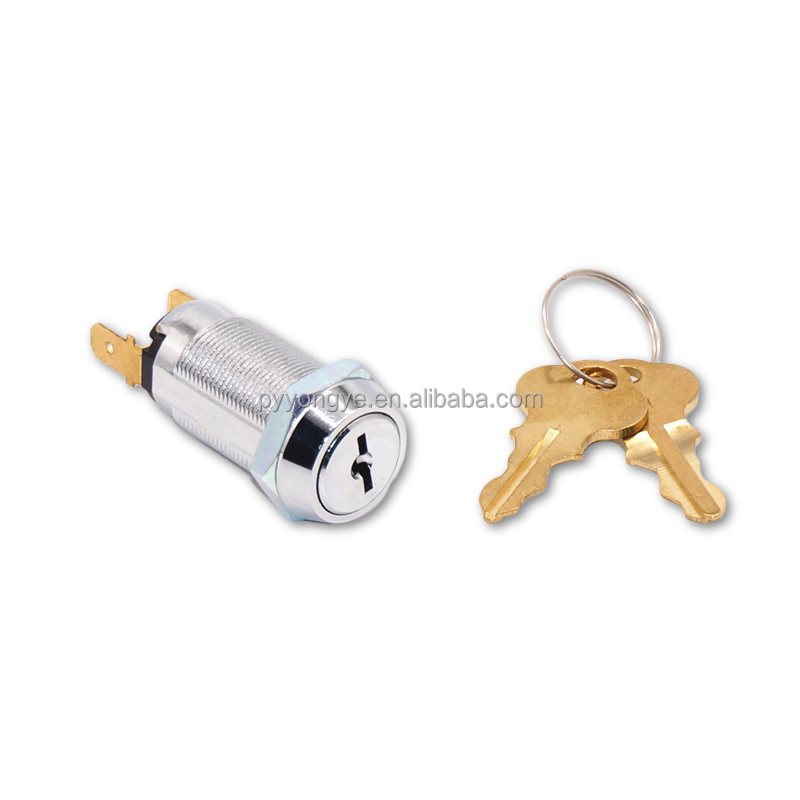 Top security Brass Key Electric zinc alloy Cabinet game machine switch lock