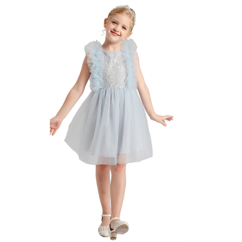2020 new fashion toddler tulle dress casual flower girls frock