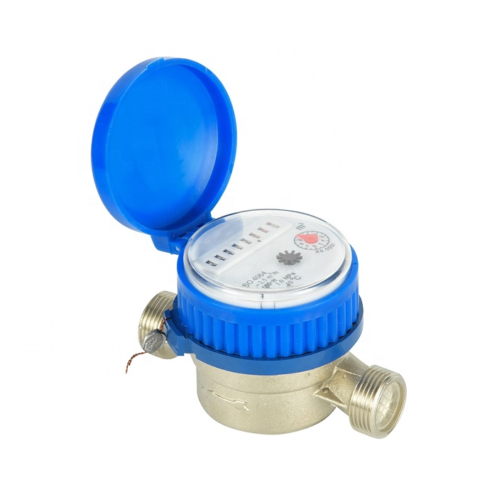 DN15mm-20mm Class B Vane Wheel Single Jet Super Dry Type Cold Water Meter Brass Body