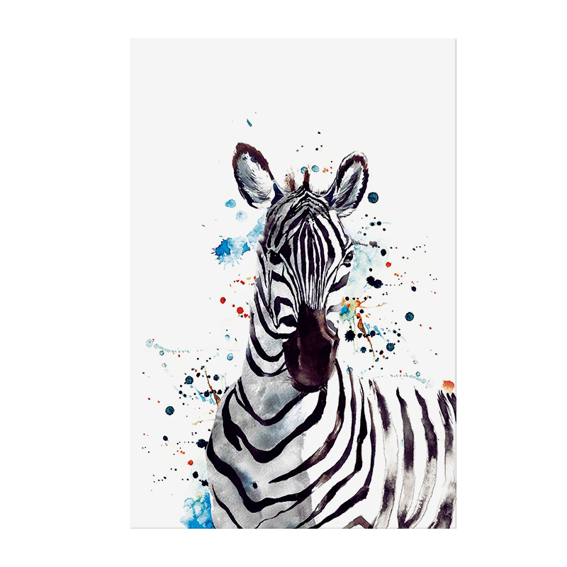 Modern Animal Wall Art Black And White Watercolor Horse Oil Painting Zebra Handmade Canvas Prints Buy Handmade Paintings Canvas Oil Painting Zebra Animal Painting Product On Alibaba Com