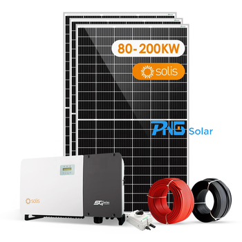 100kw 150kw 200kw customized on grid solar system with inverter mounting structure