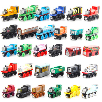 Hot sale kids wooden thomas train toys wooden magnetic mini thomas wooden train set toy