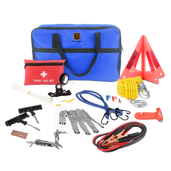 12v electric car jack survival kit emergency hot sale 42pcs electrician tools set kit excursion kit