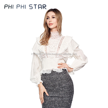 Wholesale Italian Autumn Formal Women Clothing Tops Blouse High Quality