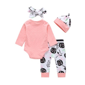 Briantex from china new design baby clothes 4 pcs set new born baby girl clothes kids clothing sets