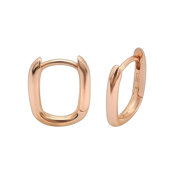 European Popular Simple 925 Sterling Silver Thick Rectangle Huggie Hoop Earrings For Women 2020
