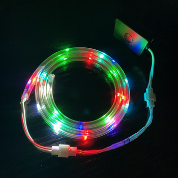 Wholesale Muti-color Waterproof Battery Powered Rechargeable LED Strip Light Lamp Strip for Shoe Tent Hat Clothing
