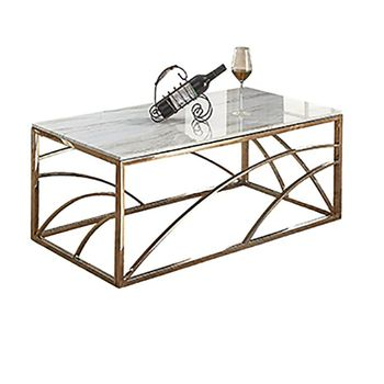 metal golden gold stainless steel coffee table living room furniture small mirrored white square luxury side table modern