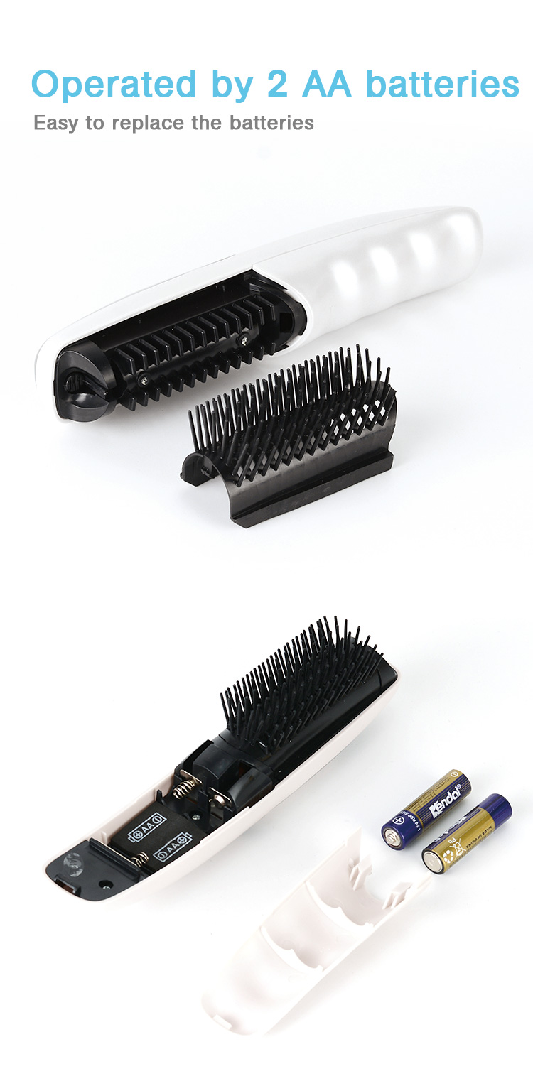wholesale popular handheld  scalp hair massager brush electric hot comb with infrared and vibration option  help treat hair loss