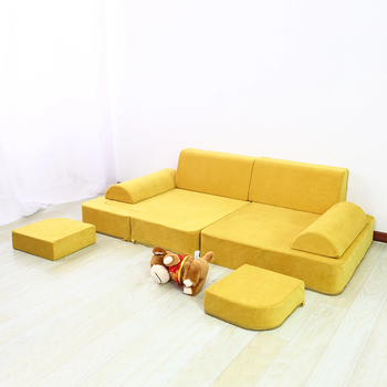 OEM Suitable For Families Living Room Multifunctional Cushion Soft Foam Shape Sofa Sets Bed Couch Play