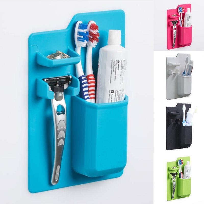 Toothbrush Holder Toothpaste Razor Stand Rack Bathroom Organize Placement Rack