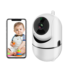 Baby sleep audio automatic movement motion tracking detector night vision Wifi camera 1080P baby monitors