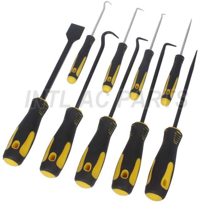 9pcs Hook Pick Set Short Long Picks Gasket O-Ring Seal Remover Craft Tools