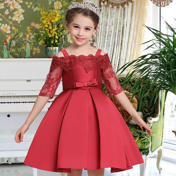 MQATZ Wholesale children's clothing fancy dresses for girls party wedding birthday girl frock L5083