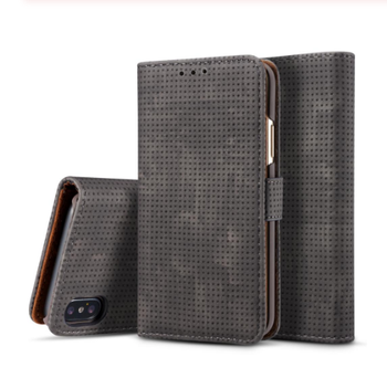 Flip Leather Case For iPhone X XR XS Max 8 7 Plus 6 6S Plus Case Mesh Card Holder Wallet Cover For iPhone 5 5S SE Phone Cases