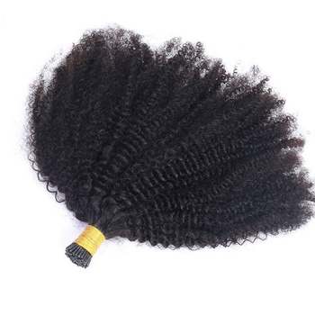 I Tip afro Kinky Curly Micro Links Hair Extensions Wholesale 100% 4B 4C 3B 3C Hair Kinky Curly Raw I Tips