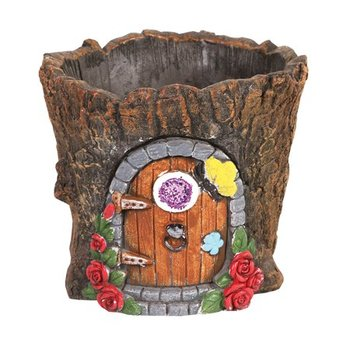 custom resin fairy house shaped flower pot wholesale polyresin home decorative plant pot for sale