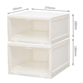 Citylife G-5308 Shoe Sneakers Display Container Box Stackable Plastic Shoe Storage Boxes