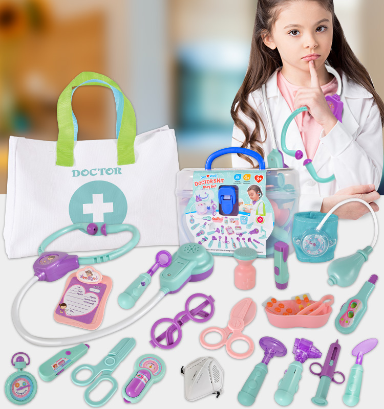Pretend Toy Medical Nurse Kit Educational Carry Box Kid Cheap 8 Years Girls Doctor Set Kids Toys