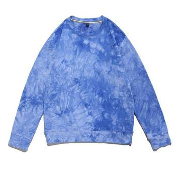 Women and Men fashion unisex sweatshirts drop shoulder oversize pullover tie dyed sweatshirts cotton terry pullover