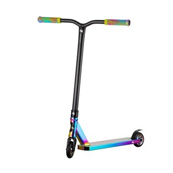 Free Samples Cheap Rainbow Pro Stunt Scooters With 110 mm Scooter Wheels
