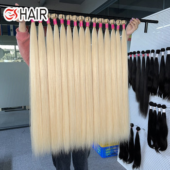 613 40inch remy Brazilian human hair extensions, 10a grade perruque 613 raw hair, virgin human blonde hair bundles with frontal