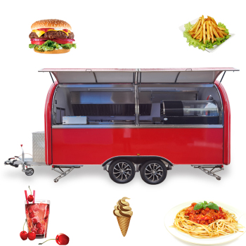 Factory wholesale prices hot sell red mobile food trailers/4m coffee food trailer fast food kiosk sale in the USA