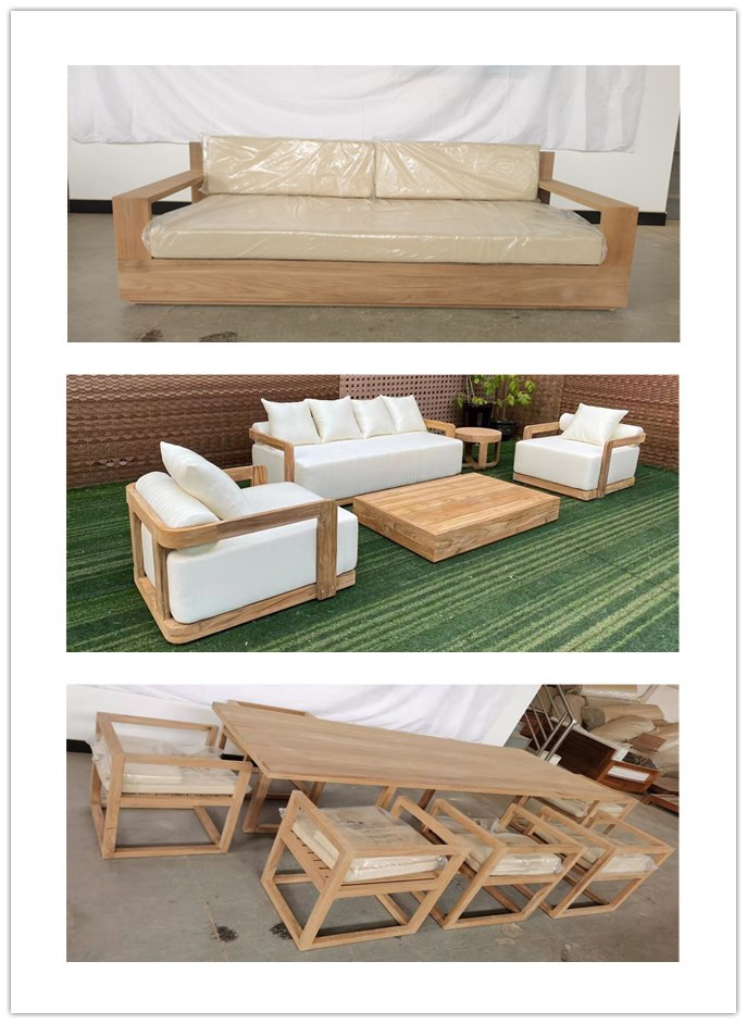 Living room garden sets wooden outdoor teak armchair dining chair furniture
