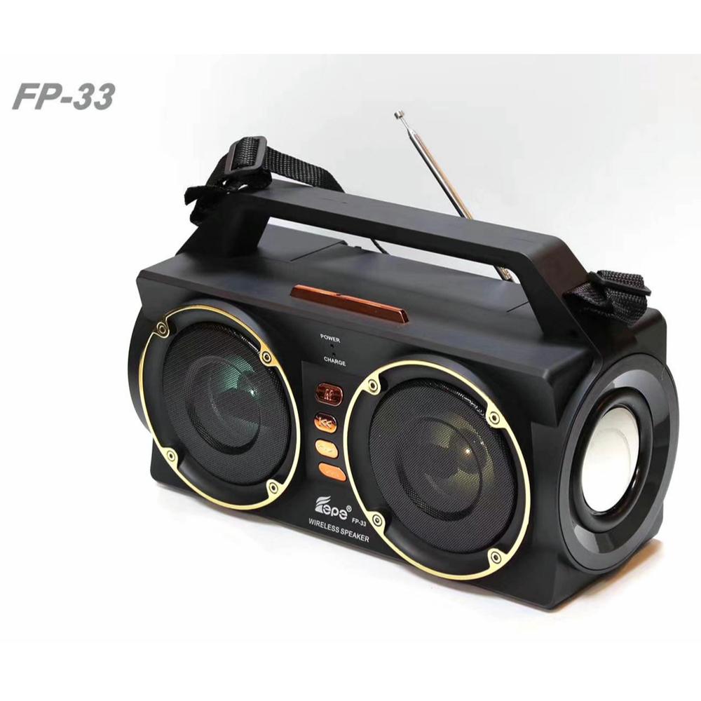 Fp-33 Outdoor Portable Disco Light Wireless Subwoofer Speaker With Fm Radio - Buy Led Light Speaker,Wireless Portable Speaker,Subwoofer Speaker Outdoor Product on Alibaba.com