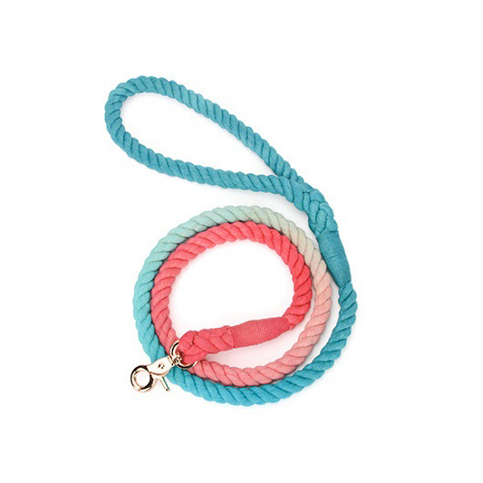 Hand Dyed Dog Leash Rope Dog Leash, Custom Dog Leash Cotton Dog Leash MANY colors