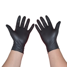 Wholesale Black Powder Free Non-Medical Nitrile Gloves With High Quality Disposable NItrile custom nitrile examination gloves