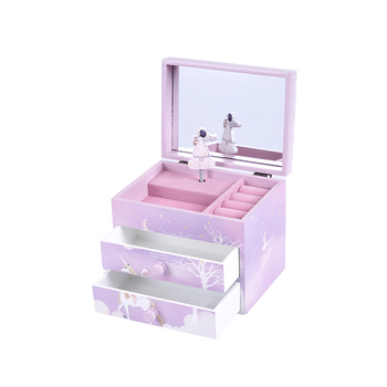 2021 New Packaging 2 Drawer Music Box Jewelry Box For Baby
