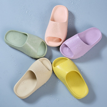 2020 New Candy Color Thick Bottom Girls Boys Student Big Kids Sandals Slides Children Slippers