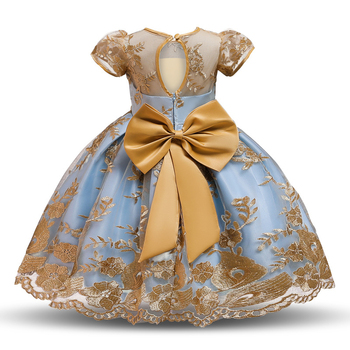 new style girls frock designs half sleeve kids ball gowns lace applique children clothes little girl birthday party dress