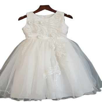 flower girl dress party wear girl dress net frock