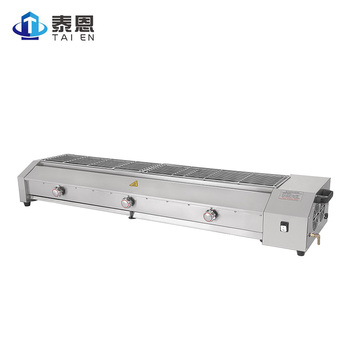 Meat Product Making Machine Table top Smokeless Gas BBQ Grill for Sausage and Skewer