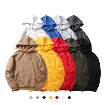 17 colors wholesale oem logo custom embroidery plain blank unisex cheap promotional polyester hoodies men's hoodie pullover
