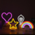Portable Plastic star Neon Table Lamp Decorative Night Light star projector night light  For kids room