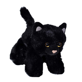 Custom standing cute black cats stuffed animal plush cat toy