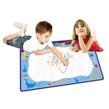 Kids games education floor water drawing doodle mat drawing toys with 26 letters and pens